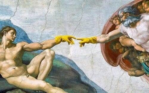 Imagen representando los memes y coronavirus