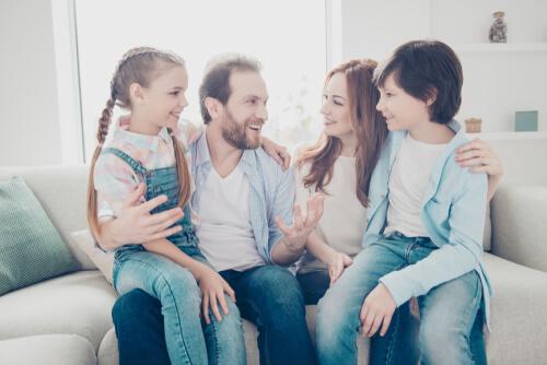 Imagen representando el amor en la familia