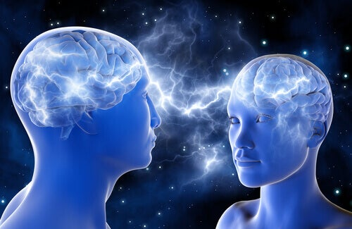 Dos personas conectadas representando la capacidad de saber conectar