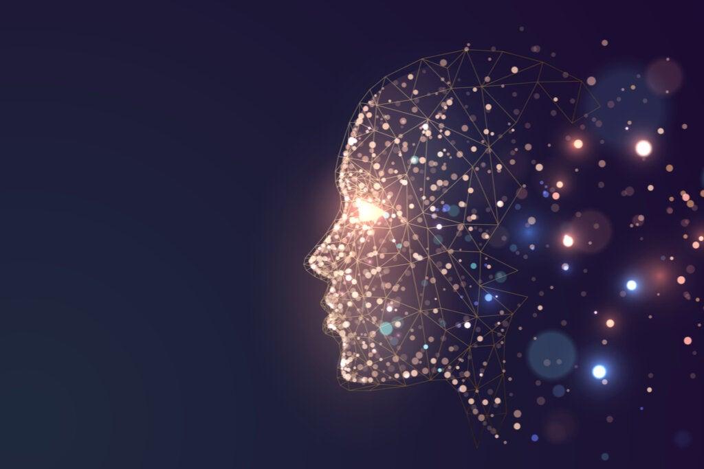 Mente iluminada para representar que el 5% de nuestros pensamientos diarios son basura