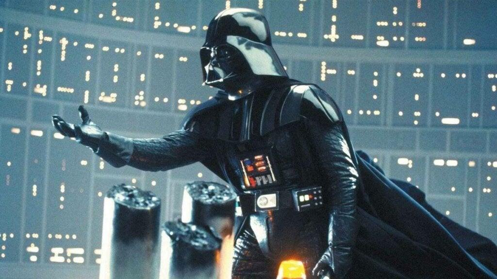 Darth Vader simbolizando las frases de Star Wars